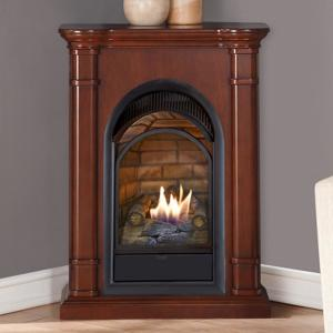 Duluth Forge 28 In Ventless Dual Fuel Fireplace With
