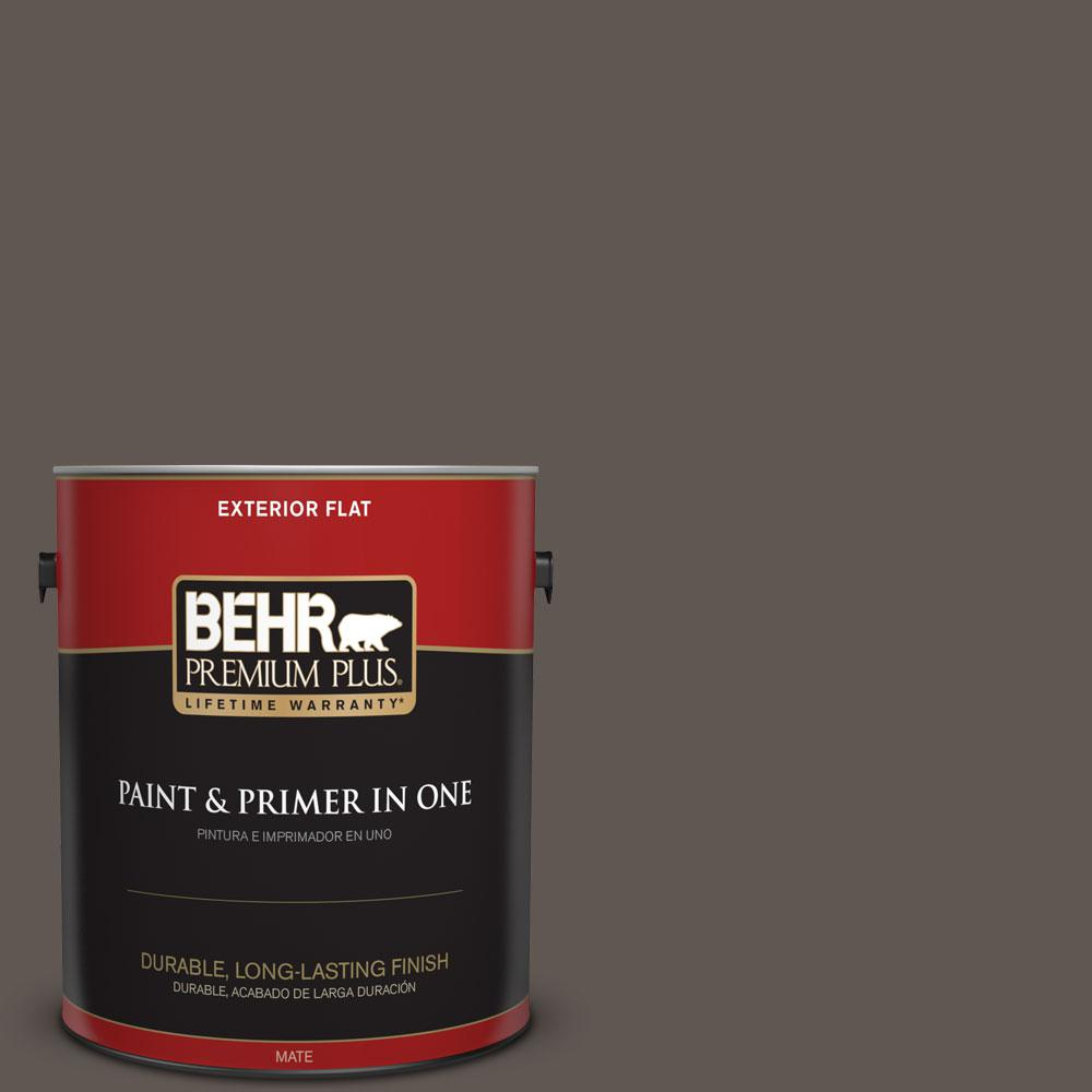 1-gal. #N140-7 Timber Brown Flat Exterior Paint