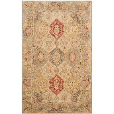 Antiquity Beige Multi 6 Ft X 9 Area Rug