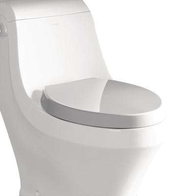 R-133SEAT Elongated Closed Front Toilet Seat in White