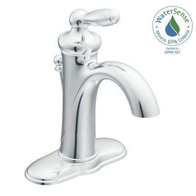 Brantford Single Hole Single Handle Mid-Arc Bathroom Faucet in Chrome