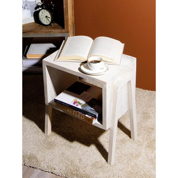 Best Home Fashion Small White Stackable Wood Table