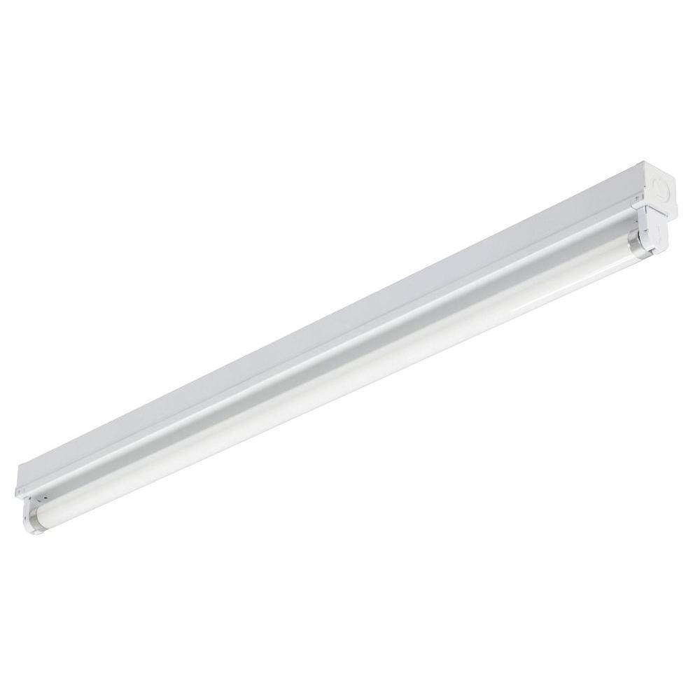 Lithonia Lighting 3 ft. 1-Light Gloss White T8 Fluorescent Strip ...