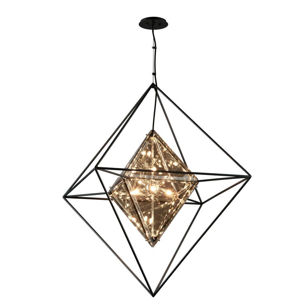 Epic 8-Light Forged Iron Pendant