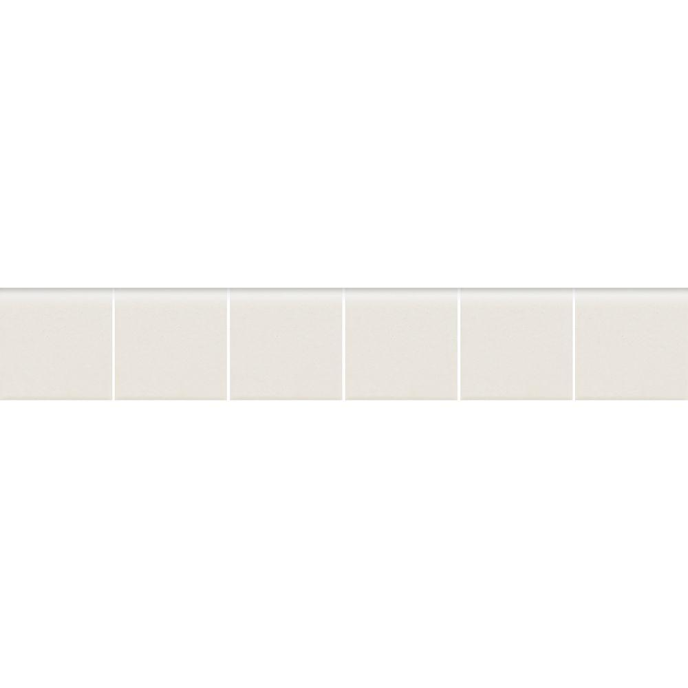 Keystones Unglazed Arctic White 2 in. x 12 in. x 6