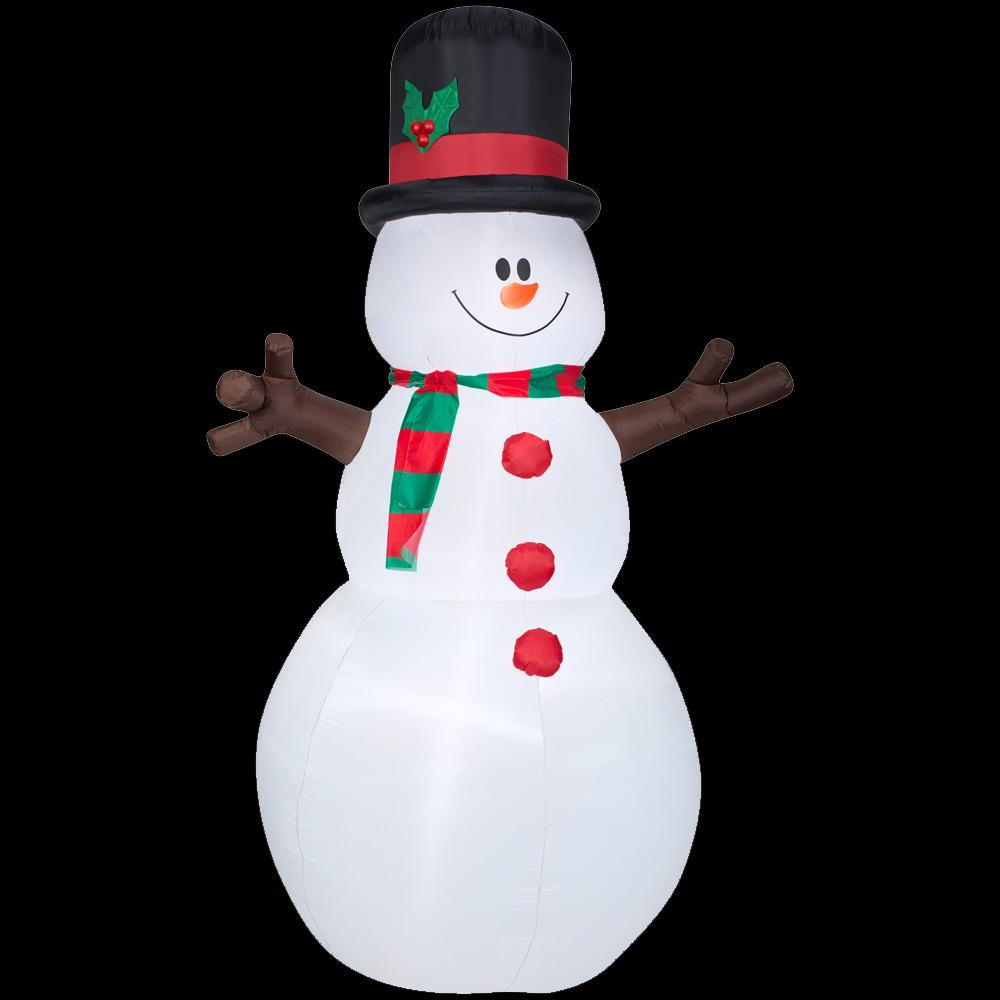 5 ft. W x 8 ft. H Inflatable Snowman with Christmas
