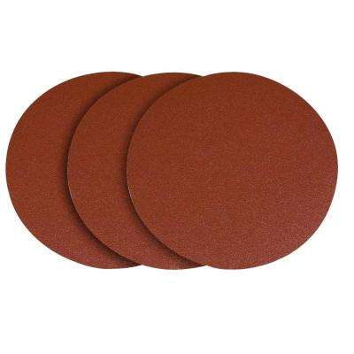 12 in. 80 Grit PSA Aluminum Oxide Sanding Disc/Self Stick (3-Pack)
