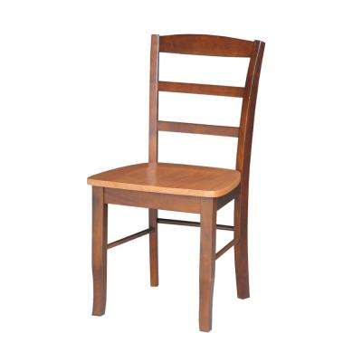Madrid Cinnamon and Espresso Wood Dining Chair (Set of 2)