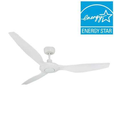 Vogue 60 in. Indoor/Outdoor Pure White Ceiling Fan