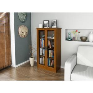 Ameriwood Altra Cherry Glass Door Bookcase by Ameriwood