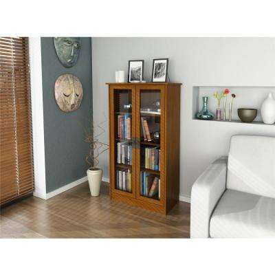Altra Cherry Glass Door Bookcase
