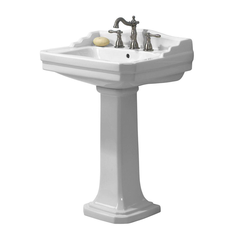 Series 1930 Lavatory and Pedestal Combo in White. Pedestal Sinks   Bathroom Sinks   The Home Depot