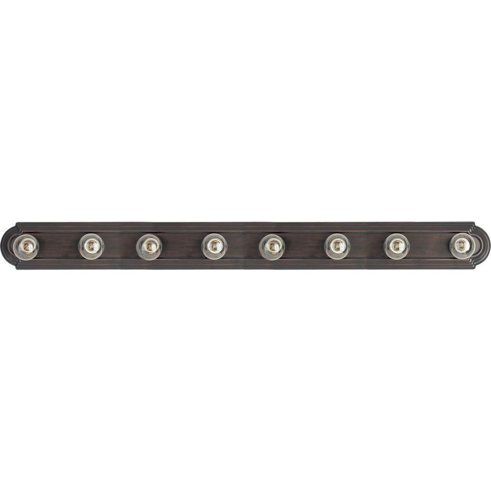Maxim lighting essentials 8 light oil rubbed bronze bath vanity light
