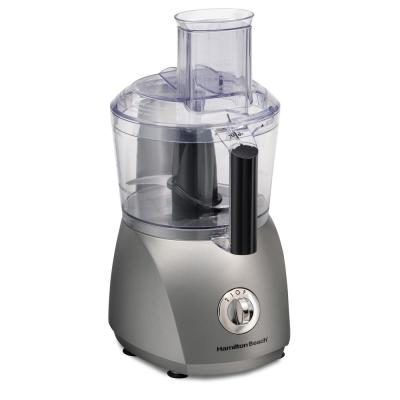 10-Cup 3-Speed Grey Food Processor with 6 Functions