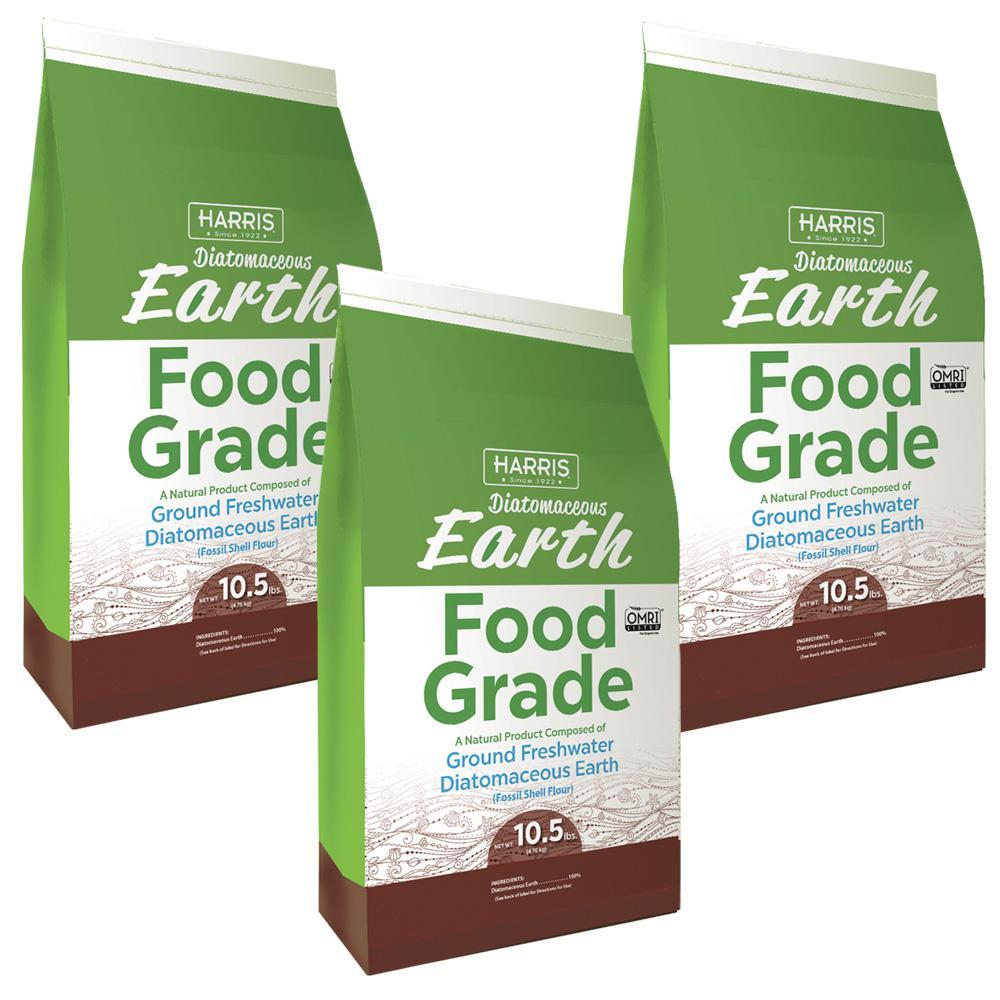 Harris 10.5 lbs. Diatomaceous Earth Food Grade 100% (3-Pack )