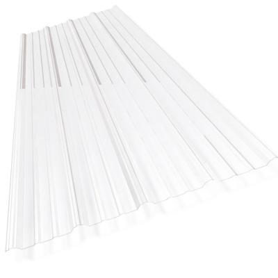Sunsky 38 In X 8 Ft Polycarbonate Corrugated Roof Panel In Clear 102782 The Home Depot