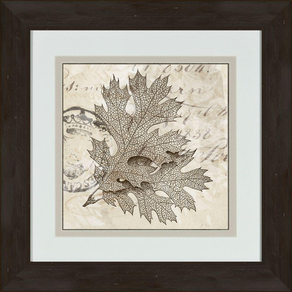 "null 17 in. x 17 in. ""Sophisticated Botany A"" Framed Wall Art"
