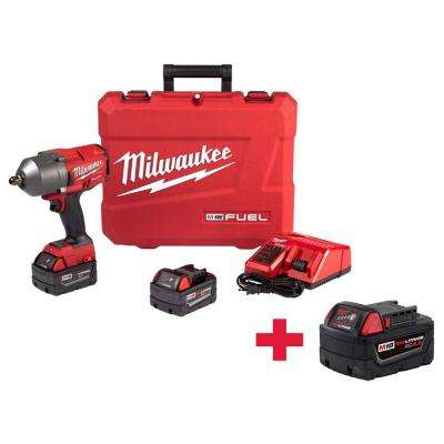 M18 FUEL 18-Volt Lithium-Ion Brushless Cordless 1/2 in. Gen II HTIW with Pin Detent Kit withFree 5.0AH Battery