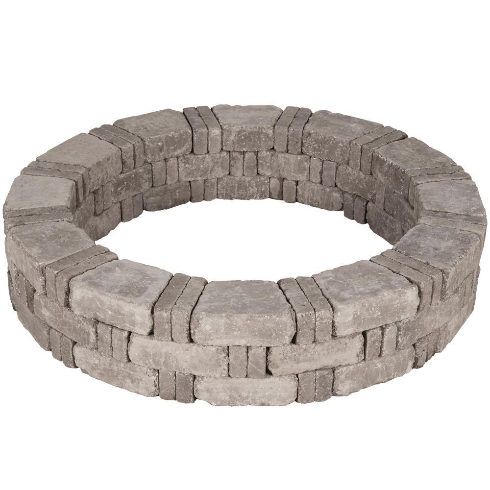 RumbleStone 52.5 in. x 10.5 in. Tree Ring Kit in Greystone