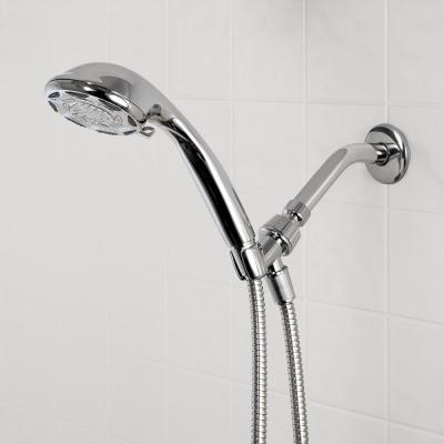 6-Spray 4 in. Wall Mount Handheld Shower Head in Chrome
