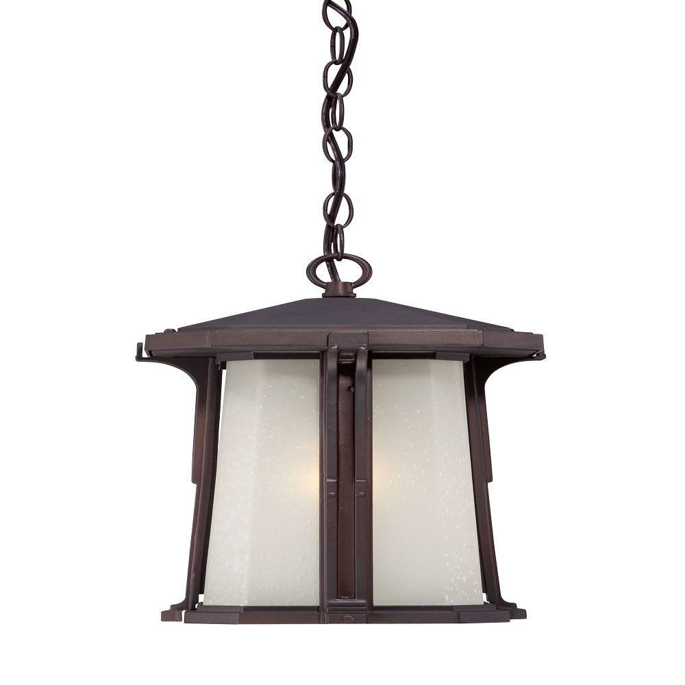 Acclaim Lighting Illuma Collection 1-Light Architectural Bronze Outdoor Hanging Lantern