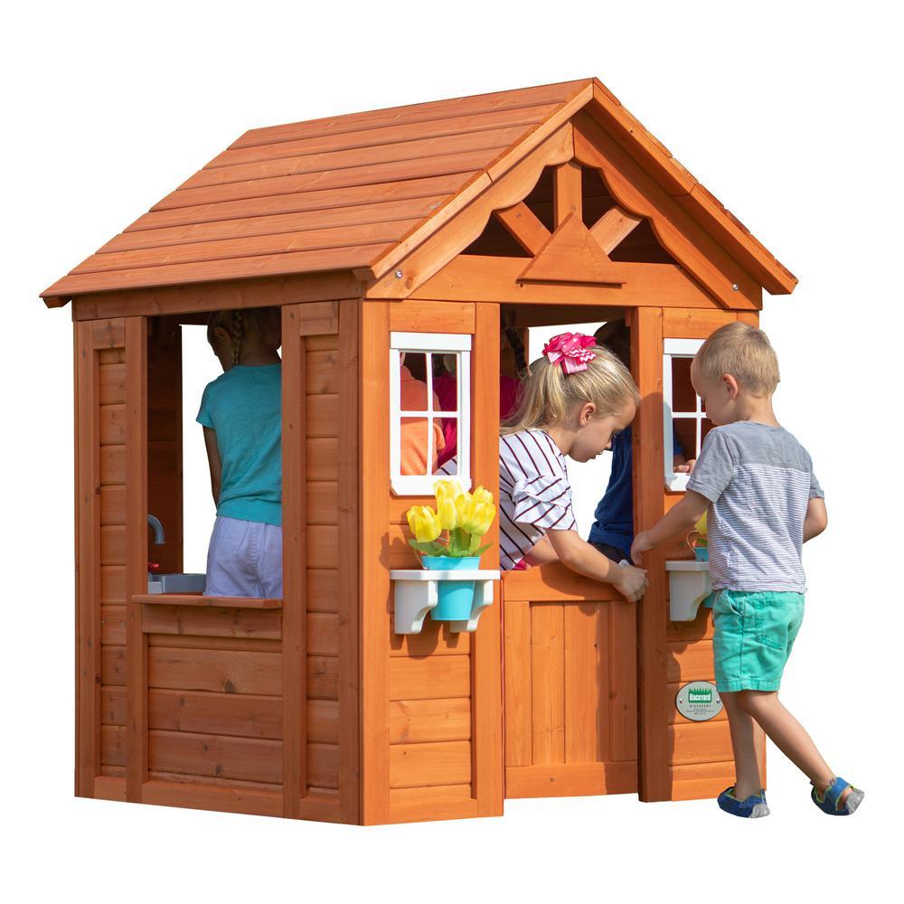Backyard Discovery Timberlake All Cedar Playhouse-65314com ...