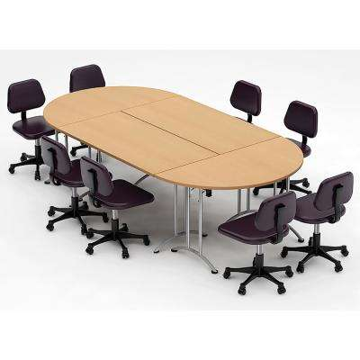 4-Piece Natural Beech Conference Tables Meeting Tables Seminar Tables Compact Space Maximum Collaboration