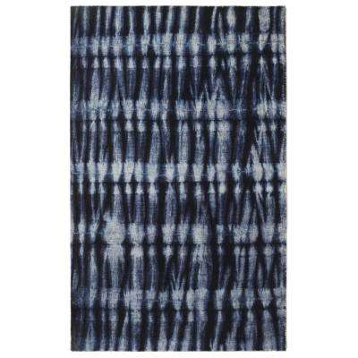 Resist Contemporary Modern Navy 5 ft. 6 in. x 8 ft. 6 in. Area Rug
