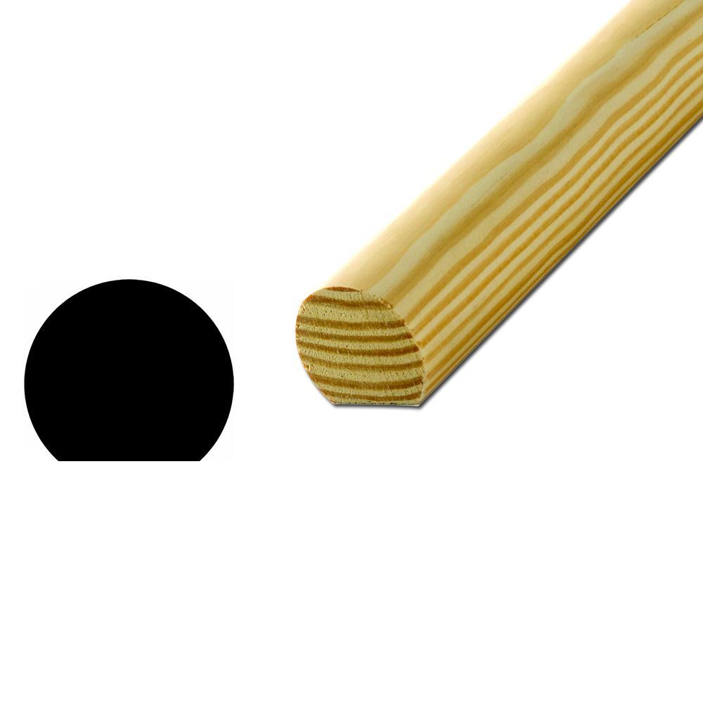 WM 231 1-1/2 in. x 1-11/16 in. x 96 in. Solid Pine Handrail Moulding