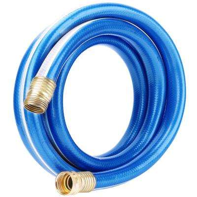3/4 in. x 5 ft. Heavy-Duty Blue and White 4-Star Utility Hose