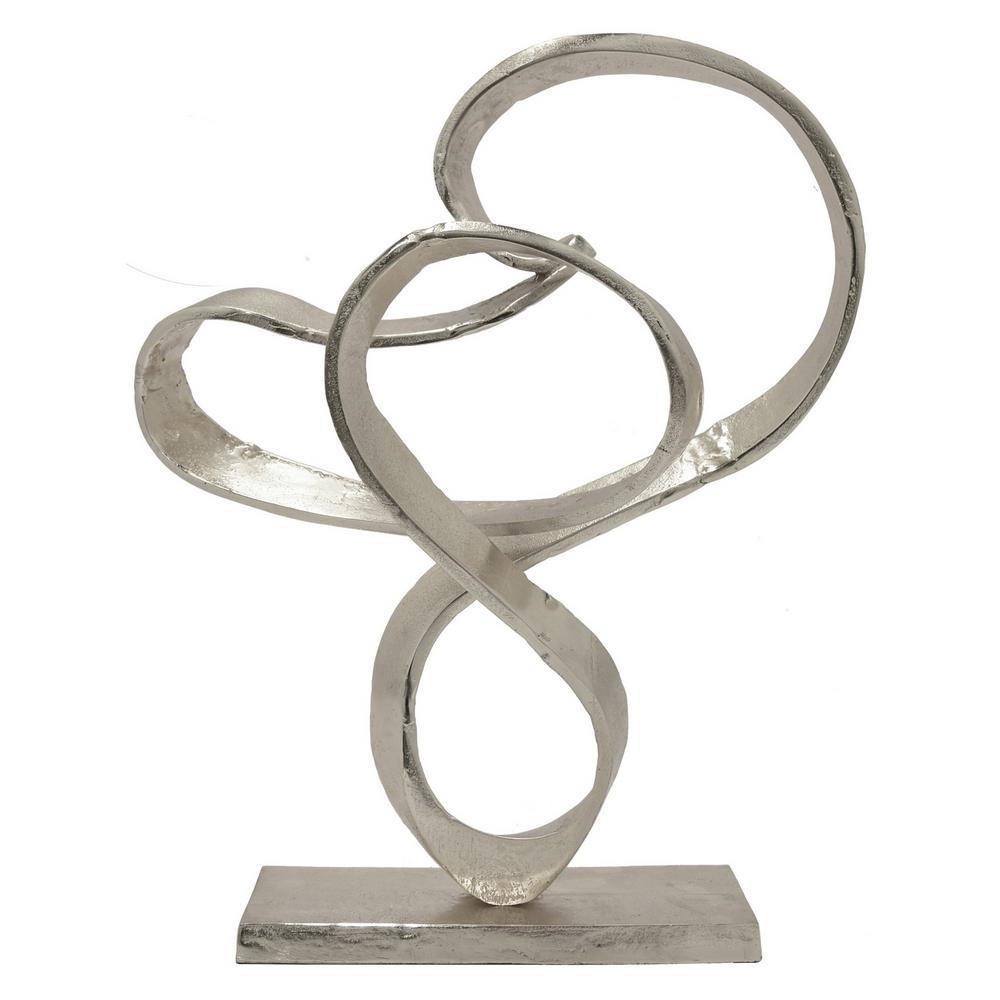 THREE HANDS 17 in. Aluminum Sculpture - Silver 88246