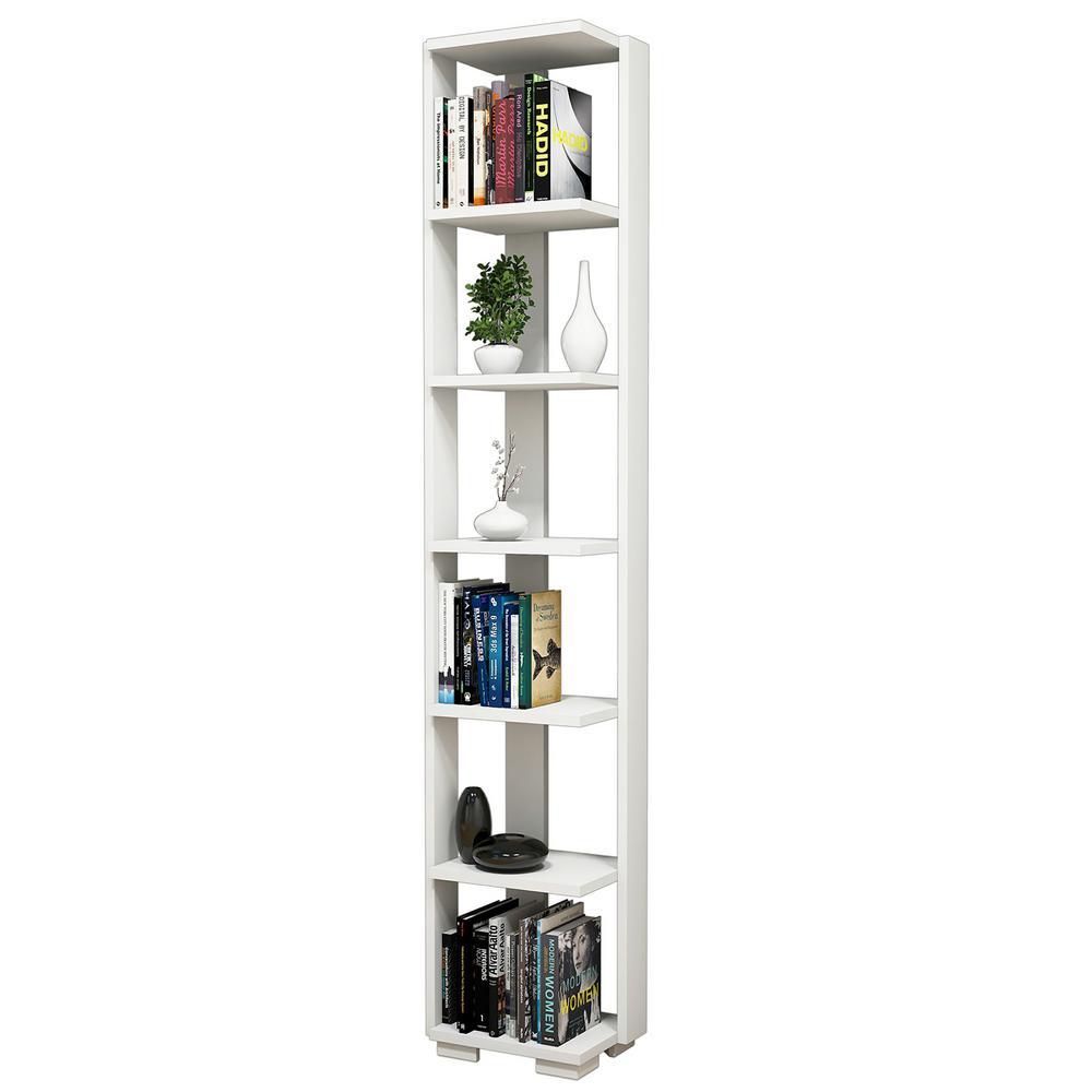 Barden White Modern Bookcase