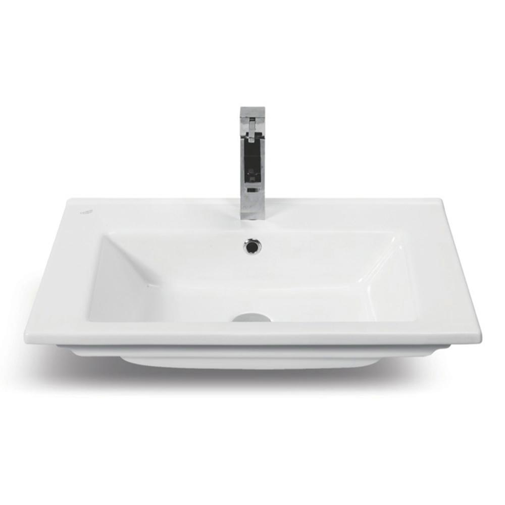 Arte Wall Mounted Bathroom Sink in White