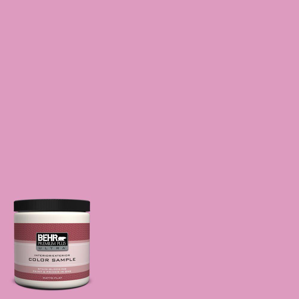 BEHR Premium Plus Ultra 8 oz. #690B-4 Pink Begonia Interior/Exterior Paint Sample