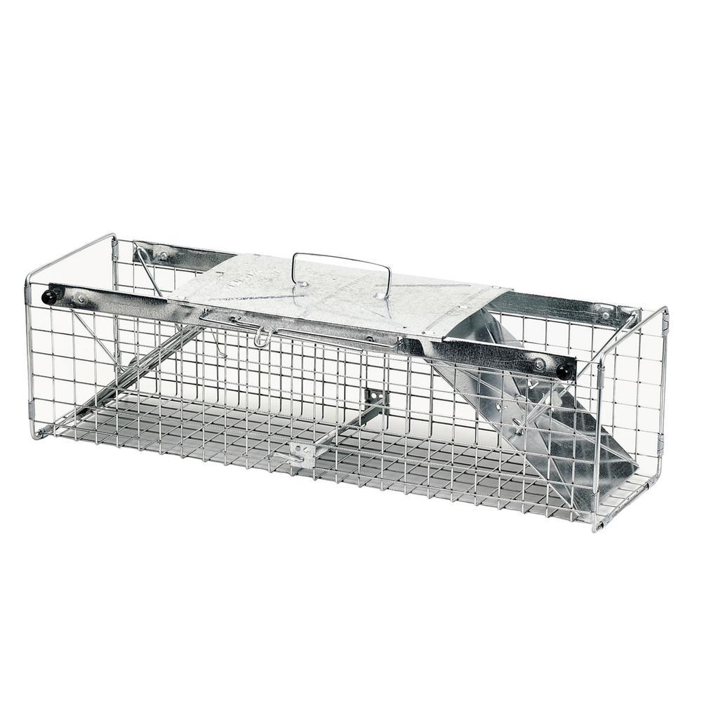Medium 2-Door Professional Live Animal Cage Trap for Squirrel, Rabbit, and Skunk