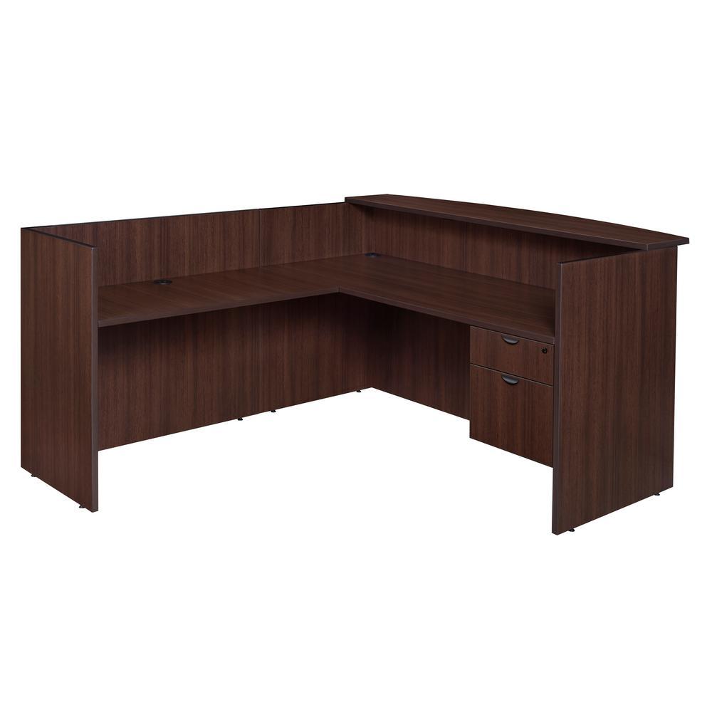Legacy Java Single Pedestal Reception Desk