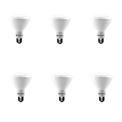 EcoSmart 65-Watt Equivalent BR30 Dimmable Energy Star LED Light Bulb Daylight (6-Pack)
