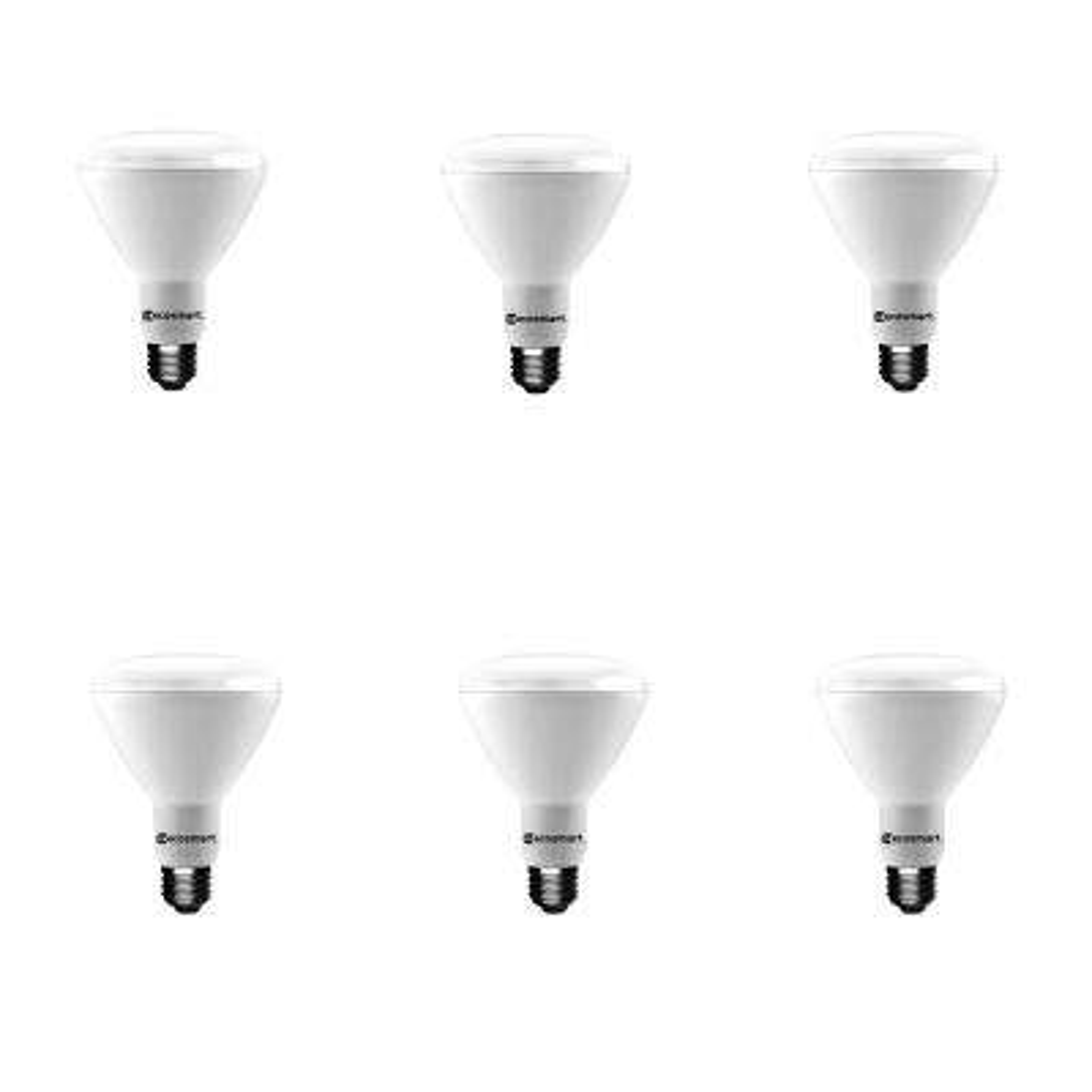 65-Watt Equivalent BR30 Dimmable Energy Star LED Light Bulb Daylight (6-Pack)