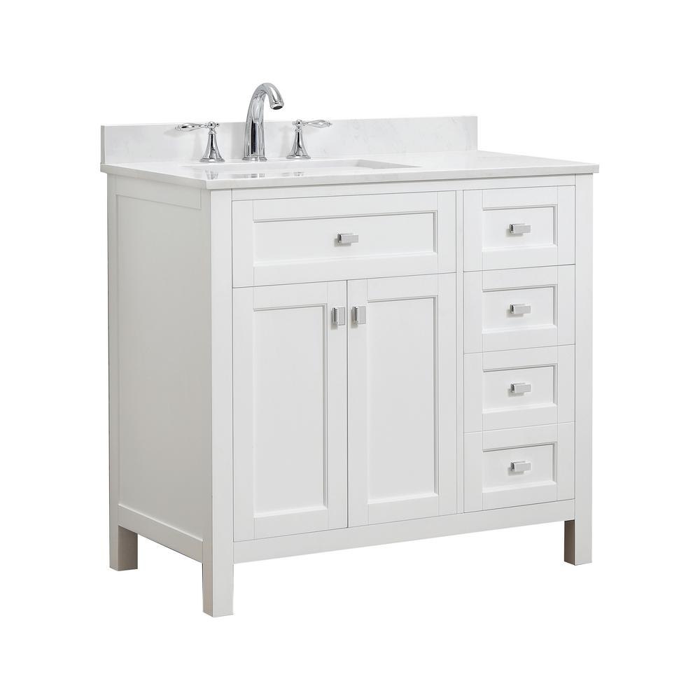 Bath Vanity White Cultured Marble Vanity Top White Basin