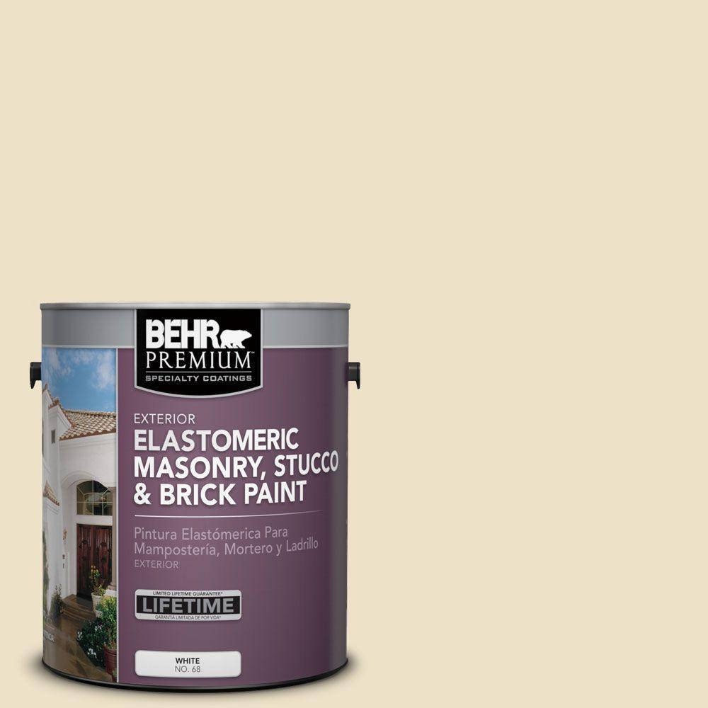 1 gal. #MS-26 Chablis Cream Elastomeric Masonry, Stucco and Brick Exterior Paint