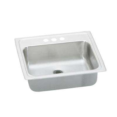Pacemaker Drop-In Bathroom Sink in Stainless Steel