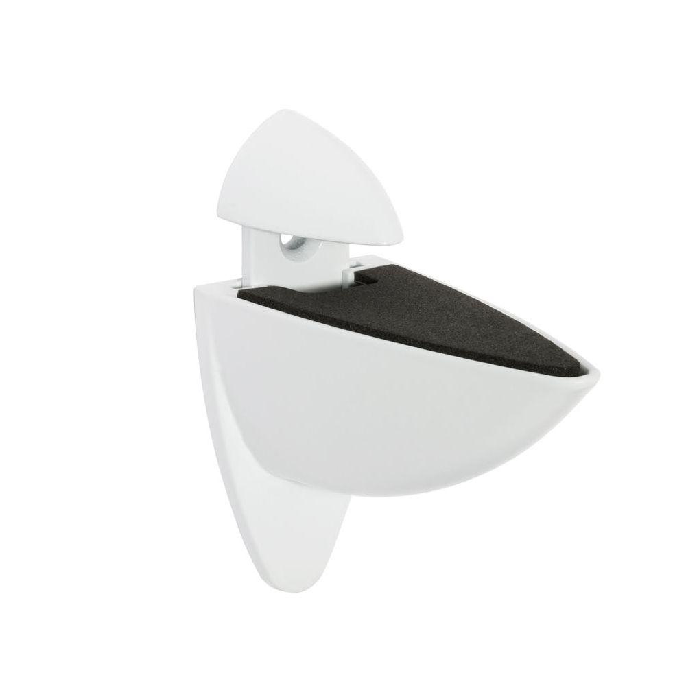 Ara 3/16 in. - 1 in. Adjustable Shelf Support in White
