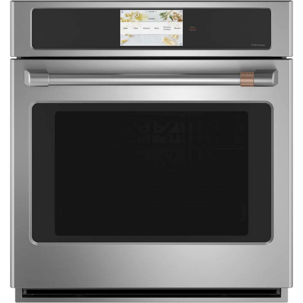 Cafe 27 in. Smart Single Electric Wall Oven with Convection Self-Cleaning in Stainless Steel