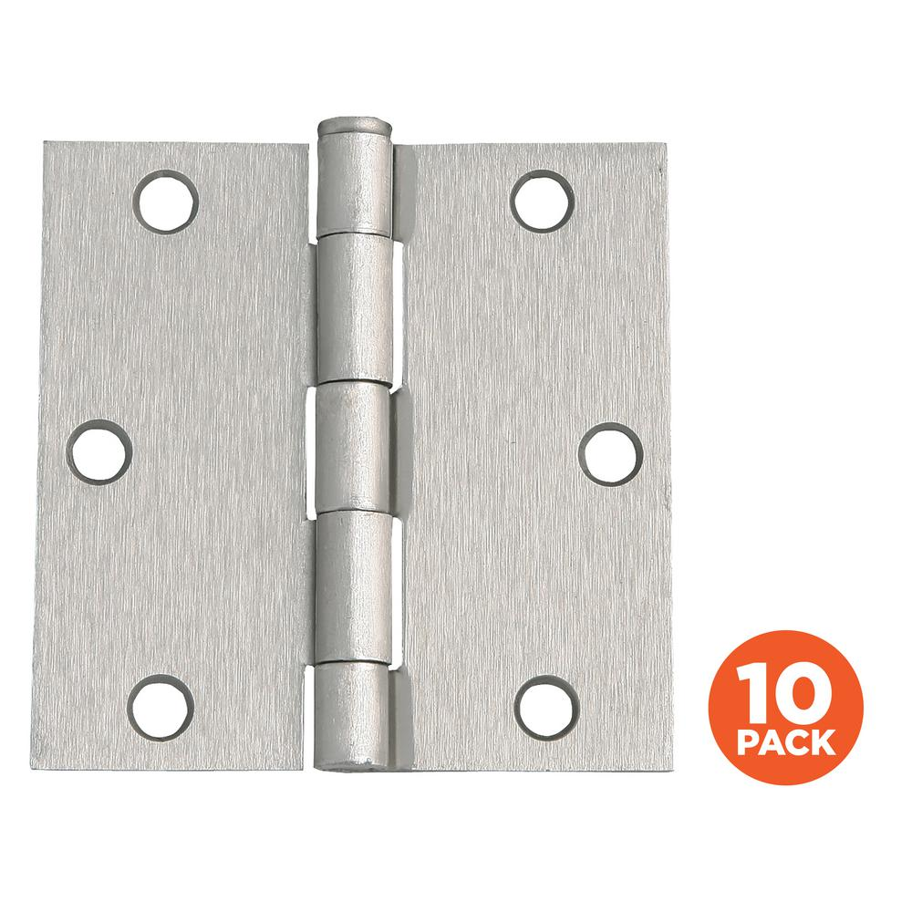 Everbilt 3 1 2 In Satin Nickel 5 8 In Radius Security