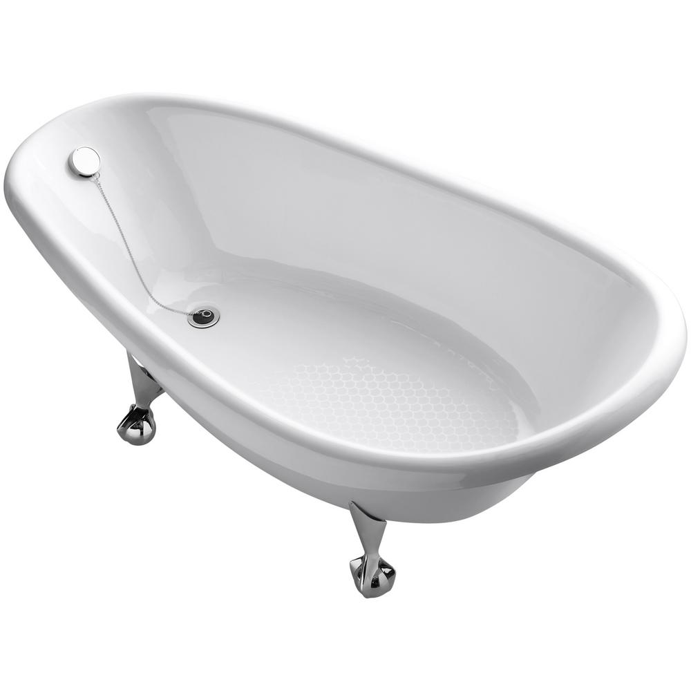 KOHLER Birthday Bath 6 ft. Porcelain-Enameled Cast Iron Claw Foot ...