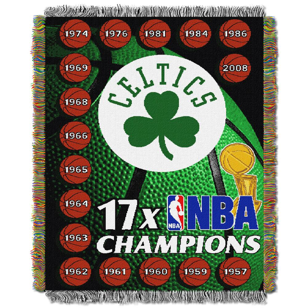Celtics Commemorative Multi Color Polyester Tapestry throw