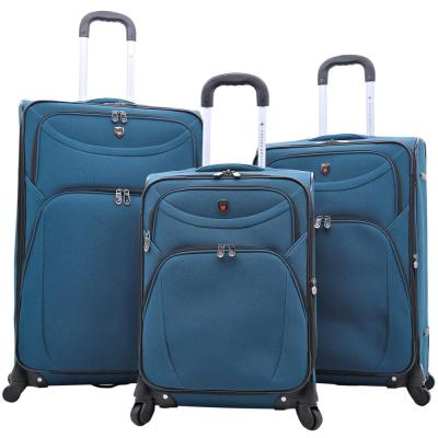 3-Piece EVA Blue Expandable Vertical Luggage Set (D-Luxe)