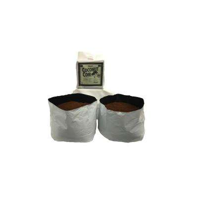 10 Gal. Plastic Grow Bag with Coconut Coir Premium Growing Media (2-Pack)