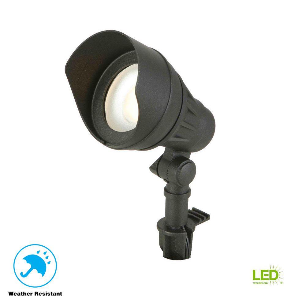 Landscape Lights Home Depot: Hampton Bay Low-Voltage 75-Watt Equivalent Black Outdoor