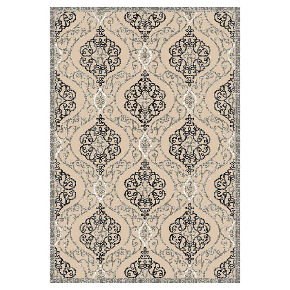Kas Rugs Grand Bazaar Sand/Grey 5 ft. x 8 ft. Area Rug This Kas Rugs 5 ft. x 8 ft. Area Rug will be a welcoming touch to your home. This area rug has a stain-resistant construction and features fade-resistant materials. It displays an oriental motif for an intricately crafted piece that never goes out of style. It comes in a gray shade, incorporating a neutral color to your floors. This woven rug has a 60% viscose construction, making it an incredibly durable option for any flooring. Color: Sand/Grey.